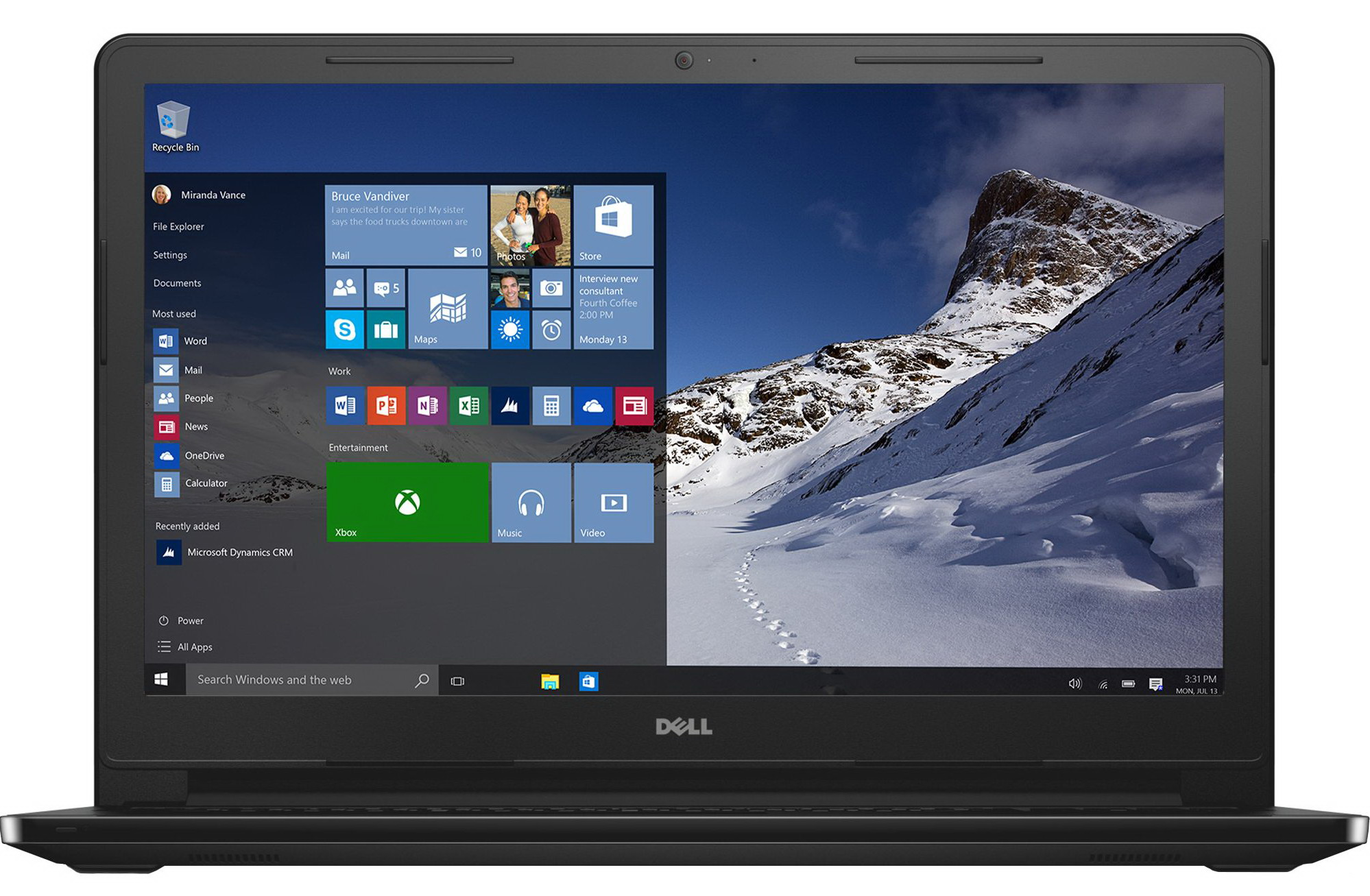 Dell Inspiron 15 3000 Series (Model 3552) Non-Touch 15-inch notebook computer. Features Braswell (BSW) processor.