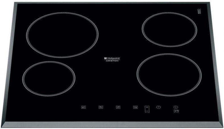 Plita incorporabila Hotpoint KRC 640 B, Vitroceramica, 4 zone de gatit, Touch control, 59 cm, Sticla neagra